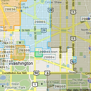 ZIP Code Boundary Sample
