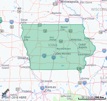 Listing of all Zip Codes in the state of Iowa on