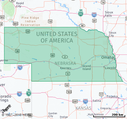 Listing of all Zip Codes in the state of Nebraska