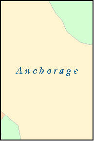 ANCHORAGE County, AK ZIP Code Map