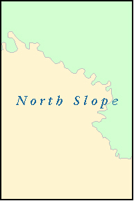 NORTH SLOPE County, AK ZIP Code Map