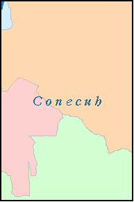 CONECUH County, AL ZIP Code Map