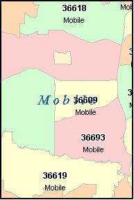 Mobile Al Zip Code Map Zip Code Map
