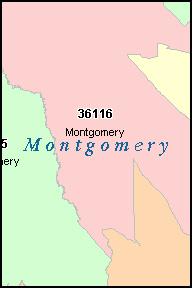 Zip Code Map Montgomery Al Zip Code Map