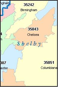 Alabama Zip Code Map Swimnovacom - Birmingham al on us map