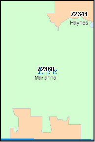 LEE County, AR ZIP Code Map