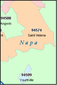 Napa Zip Code Map.Napa City Boundary Map Www Picturesso Com