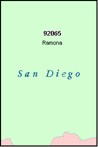 SAN DIEGO County, CA ZIP Code Map