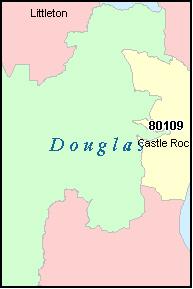 DOUGLAS County, CO ZIP Code Map