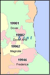 Dover De Zip Code Map | Zip Code MAP