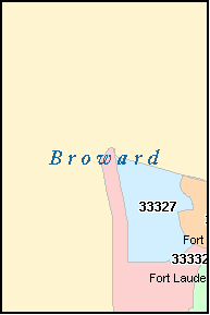 BROWARD County, FL ZIP Code Map