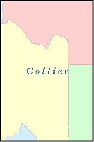 COLLIER County, FL ZIP Code Map