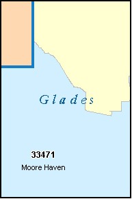 MOORE HAVEN Florida, FL ZIP Code Map