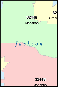 JACKSON County, FL ZIP Code Map