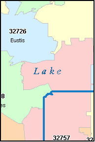 CLERMONT Florida, FL ZIP Code Map