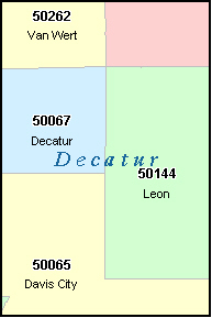 DECATUR County, IA ZIP Code Map