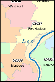 WEVER Iowa, IA ZIP Code Map
