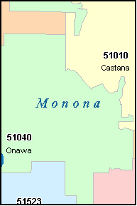 MONONA County, IA ZIP Code Map