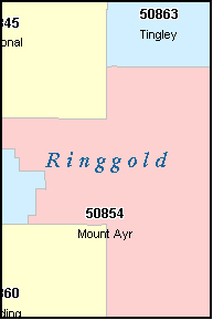 RINGGOLD County, IA ZIP Code Map
