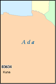 ADA County, ID ZIP Code Map