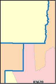 GEM County, ID ZIP Code Map