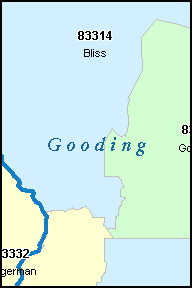 GOODING County, ID ZIP Code Map