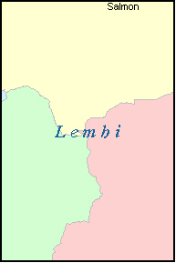 LEMHI County, ID ZIP Code Map