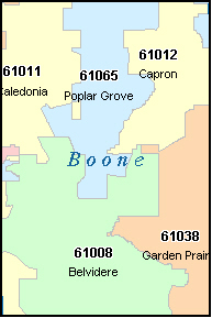 BOONE County, IL ZIP Code Map