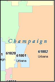 Champaign Zip Code Map | Zip Code MAP