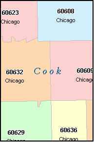 chicago zip code database