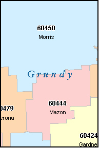 GARDNER Illinois, IL ZIP Code Map