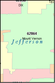 WOODLAWN Illinois, IL ZIP Code Map