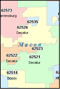 Decatur Il Zip Code Map Zip Code Map
