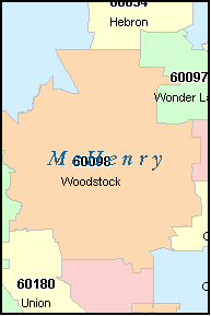 MCHENRY County, IL ZIP Code Map
