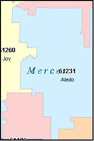 MERCER County, IL ZIP Code Map