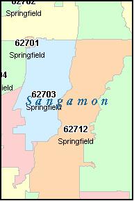 Springfield Illinois Zip Code Map Zip Code Map