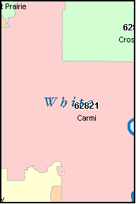 WHITE County, IL ZIP Code Map