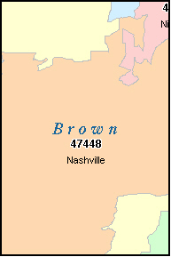 NASHVILLE Indiana, IN ZIP Code Map