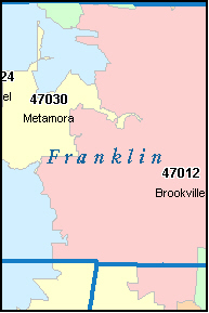 LAUREL Indiana, IN ZIP Code Map