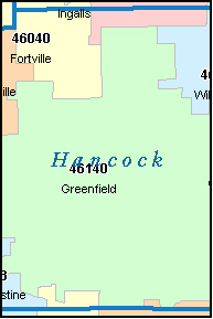 WILKINSON Indiana, IN ZIP Code Map