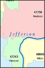 DUPONT Indiana, IN ZIP Code Map