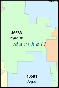 PLYMOUTH Indiana, IN ZIP Code Map
