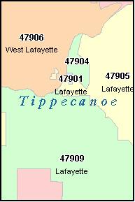 Lafayette Indiana Zip Code Map.Lafayette In Zip Code Map Zip Code Map
