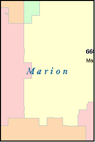 MARION County, KS ZIP Code Map