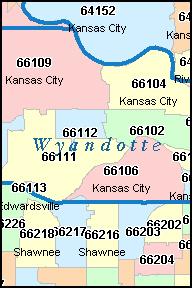 Zip Code Map Kansas City Ks Zip Code Map
