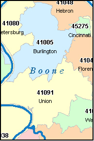 FLORENCE Kentucky, KY ZIP Code Map Downloads
