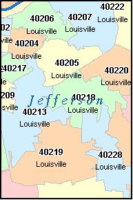 Pics Photos - Kentucky Zip Code Map Mappery