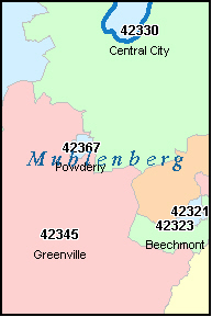 GRAHAM Kentucky, KY ZIP Code Map