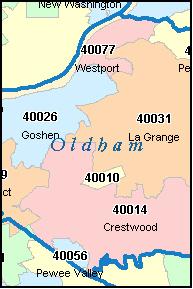 GOSHEN Kentucky, KY ZIP Code Map Downloads