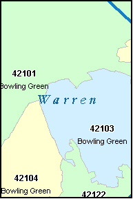 Bowling Green Zip Code Map.Map Of Warren County Ky